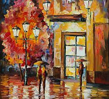 IN EXPECTATION OF CELEBRATION-original oil painting on canvas by Leonid Afremov by Leonid  Afremov