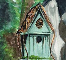 Tallac Birdhouse 2 by Amy-Elyse Neer