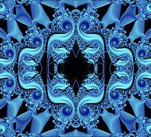 Blue Fractalicious by Charldia