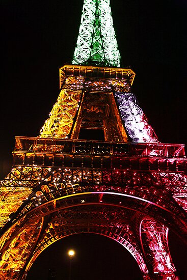 Parisian Mosaic - Piece 21 - The Eiffel Tower Night Light by Igor Shrayer