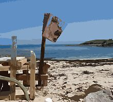 Beach bar, St Mary's Isles of Scilly by Robert Huntley