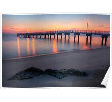 Woodland Beach Fishing Pier Dawn Poster
