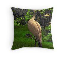 Stanley's Crane, Edinburgh Zoo Throw Pillow
