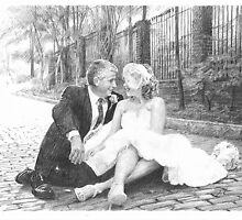 Newlyweds and cobblestones by Mike Theuer