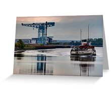 PS Waverley @ Clydebank Titan Greeting Card