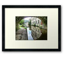 The Through view at Hebden Bridge. Framed Print