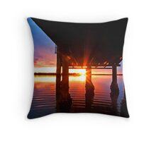 Ripple Sunset - South Stradbroke Island Throw Pillow