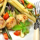 Coquilles St Jacques with Beans Sautés by SmoothBreeze7