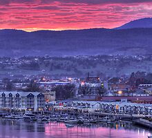 Pink Clouds - Seaport Launceston by Ben Swanson
