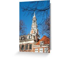 Keeping track of time and history... Zuiderkerk Tower Amsterdam Greeting Card