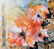 Holly hock series 2 by Kay Clark