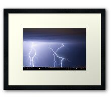 X in the Sky Framed Print