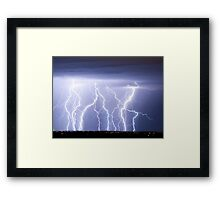 Crazy Lightning Skies Framed Print