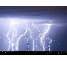 Crazy Lightning Skies Photographic Print
