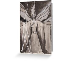Moth Girl Greeting Card
