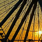 Big Wheel Sunset by PhotoKismet