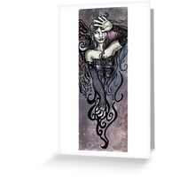 The Overseeing Dark Angel Greeting Card