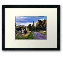 Farm Access Road Framed Print