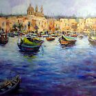 View of Marsaxlokk (Malta) by Ivana Pinaffo
