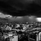 Monsoon rolling in over Bangkok by Justin Knewstub