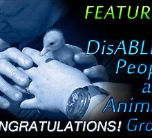 FEATURED banner for DisABLED PEOPLE and ANIMALS by Baina Masquelier