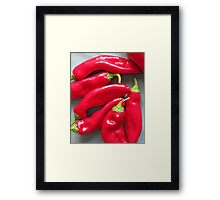 The Red P's Framed Print