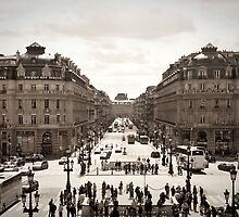 Paris City Street - Avenue de L'Opera  by aMillionWordsCa
