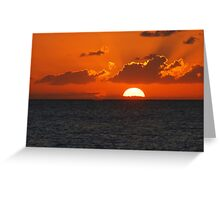 As your Sun Sets! Greeting Card