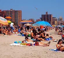Coney Island Beach, NYC by RonnieGinnever