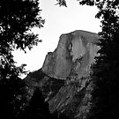 Half Dome in Black and White by Helen Vercoe