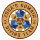 Zora's Domain Diving Team (Sticker) by Rachael Thomas