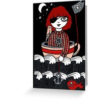 Teacup Pirate Greeting Card