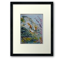 Granite Hill Zimbabwe with Cherry Trees in Blossom Framed Print