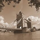 Tower Bridge of London sepia by j0sh
