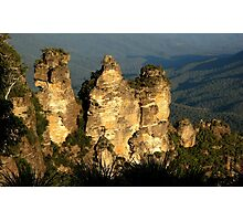love legend-Three Sisters at Blue Mountain, Sydney, Australia Photographic Print