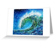 The wave's power Greeting Card