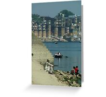 Peaceful Place Varanasi Ghats Greeting Card