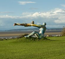 Venus and Cupid Sculpture - Morecambe Bay by jd-photography