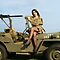 Ashley on a &#x27;44 Willys MB by LibertyCalendar