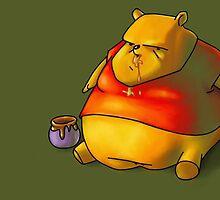 fat the pooh bear by GassyEnglishman