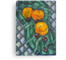 Peaches and Cherries Canvas Print