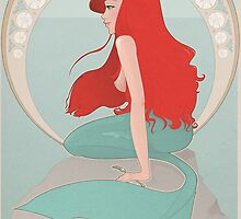 Ariel in Mucha Style by neofirefly