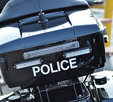Police motorcycle by Matt Millican
