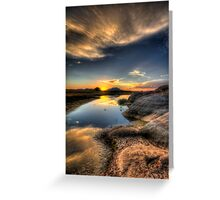 Straight On To Sunset Greeting Card