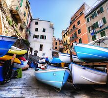 Boats of Riomaggiore by Luke Griffin