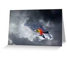 Moody Miss Demeanour Greeting Card