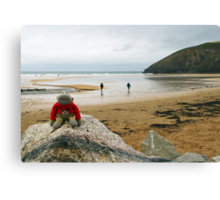 Jimmy at the summit! Canvas Print