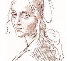 Copy of Leonardo Da Vinci's (angel) Madonna of the Rocks by John Darren Sutton