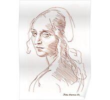 Copy of Leonardo Da Vinci's (angel) Madonna of the Rocks Poster