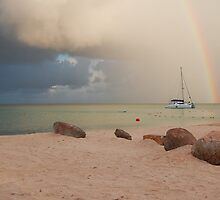 Morning Squall Palm Beach Aruba  by John  Kapusta